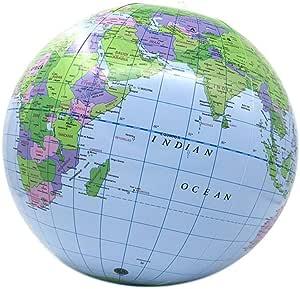 VOSAREA Weltkugel Praktische Englische Weltkarte Globus Lehrmittel Werkzeuge f/ür Kinder Studenten B/üro zu Hause Klassenzimmer
