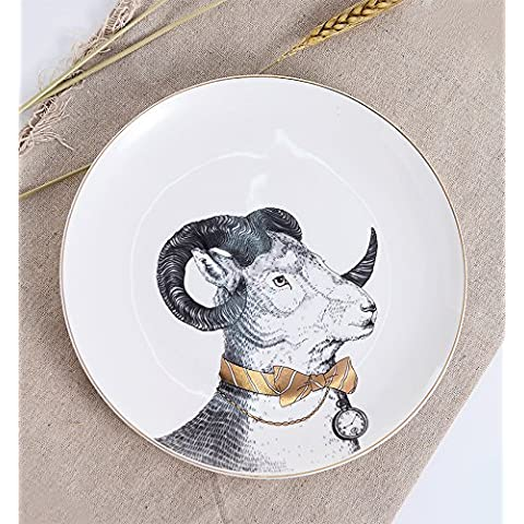 WEIAN Lovely Bone China occidentale cibo Gentleman Antelope