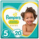 Pampers Premium Protection Windeln, Gr. 5 Junior (11-16 kg), 4er Pack (4 x 20 Stück)