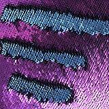 f-eshion Farbige Deko Mermaid Kissen wendbar Pailletten Kissen Kissenbezug 40,6x 40,6cm (40x 40cm) blau und violett