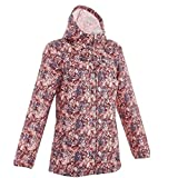 #7: Quechua Women's Raincut Zip Waterproof Nature Hiking Rain Jacket - Burgundy