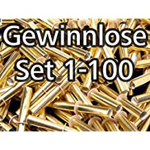Röllchenlose gold-glänzend, Set 1-100