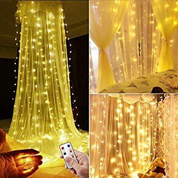 LE Curtain Lights 3x3m 306 LEDs, 8 Modes Window Curtain Icicle ...