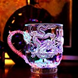 Lesypet® LED Trinkglas, ungiftiger Kunststoff Bunte blinkende LED Cups für Bar Party Romantisches Trinken -2PCS