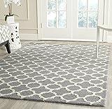 Safavieh Bessa handgetufteter Teppich, CAM130D, Silber/Elfenbein, 152 X 243 cm