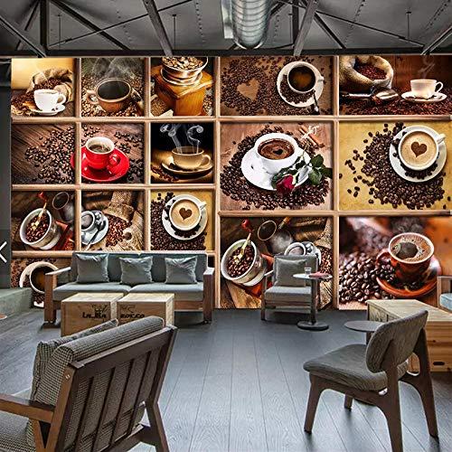 Landschaftstapete Benutzerdefinierte Wandbild Papel De Parede Kaffeebohnen Kaffeetasse 3D Foto Tapete Cafe Restaurant Wohnzimmer Küche Dekorative Tapete, Benutzerdefinierte Größe Kontaktieren Sie Uns