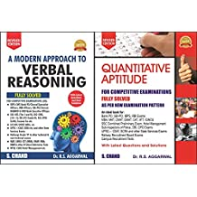 Quantitative Aptitude for Competitive Examinations r s agarwal with A Modern Approach to Verbal Reasoning (R.S. Aggarwal)