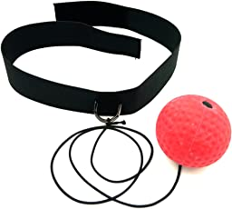 Jisen Boxing Reflex Fight Ball Hand Speed and Agility Headband Fits All for Boxing, Training and Fitness, Premium Gym Boxing Equipment