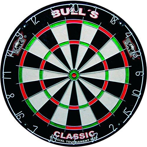 BULL\'S Classic Bristle Dartboard / Dartscheibe, inkl. BULL\'s Wandhalterung