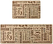 Kitchen Mat Set 2 Piece Cushioned Kitchen Rugs Floor Mat Standing Anti-Fatigue Mat Indoors Non-Slip Rubber Bac