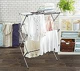 #9: BEST4U Lifetiime Stainless Steel Floor Rack Cloth Dryer Stand (Silver)