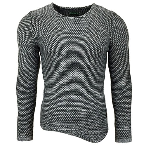 Subliminal Mode ? Pull Over Homme Tricot SB-15031 Grosse Maille Gris