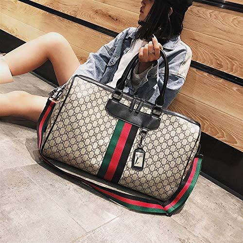 WOAIRAN Weibliche Umhängetasche Damenmode Vintage Streifen Handtasche Messenger Bags Damen Einfache Freizeit Große Kapazität Reise Crossbody Tasche Khaki