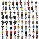 FutureShapers 68pcs Mini Figures Set SWAT Team Police Minifigures Set Building Blocks for Kids