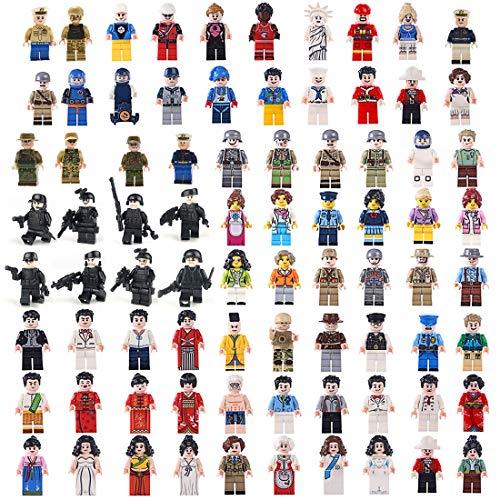 LoKauf 68St. Mini Figuren Set Minifiguren Soldaten Armee Set Mini Soldaten Figuren 3D Puzzle Bausteine Kinder Building Blocks (Lego Menschen)
