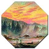 Bilderdepot24 Kunstdruck - Caspar David Friedrich - Der Morgen - Achteck 50x50 cm - Alte Meister - Leinwandbilder - Bilder als Leinwanddruck - Bild auf Leinwand - Wandbild