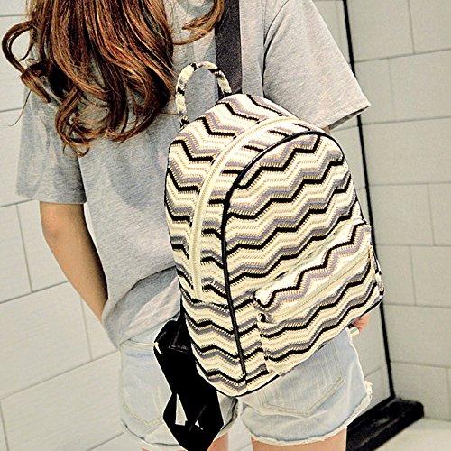 Versione coreana di borsa a tracolla Lady maglia nazionale di collisione del vento Colour Mini zaino borsa dello studente, Lago Blu Lake Blue