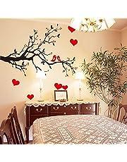 Oren Empower Decorative Branch with Red Hearts Wall Sticker