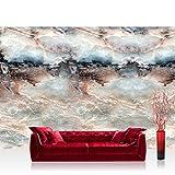 Fototapete 368x254 cm PREMIUM Wand Foto Tapete Wand Bild Papiertapete - Steinwand Tapete Marmor Marmoroptik Stein Natur grau - no. 2829
