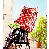 Regenschutz für Fahrradkindersitz Große Punkte, rot
