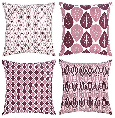 4Paquetes manta fundas de almohada-lona de algodón sofá y cama decoración del...