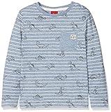 s.Oliver Baby-Jungen Langarmshirt 65.807.31.8045, Blau (Blue AOP 53a0), 62