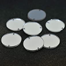 Embroiderymaterial Acrylic Mirror for Embroidery and Craft Purpose (Round Shape, 25 Pieces)