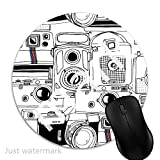 Maus-Pad Kamera-Collage,7 inch rund Mouse-Pad mit rutschfester Unterlage Standard 1V1842