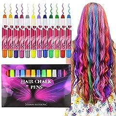 Idea Regalo - Gesso per Capelli Set,Buluri 12 Colori Gessi per capelli Gessi per Capelli