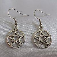 Pentagramm Ohrringe / antik silber / Schutz Symbol