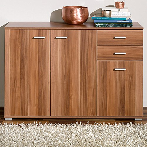 highboard nussbaum wei bestseller shop f r m bel und einrichtungen. Black Bedroom Furniture Sets. Home Design Ideas