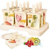 IJsvormpjes, set van 9 stuks, herbruikbare ijsvormen voor het invriezen van fruit of yoghurt