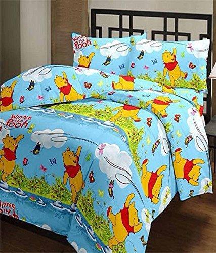 Frabjous Pooh Cartoon Prints Polycotton Single Bed Reversible Dohar/AC Blanket/Quilt...