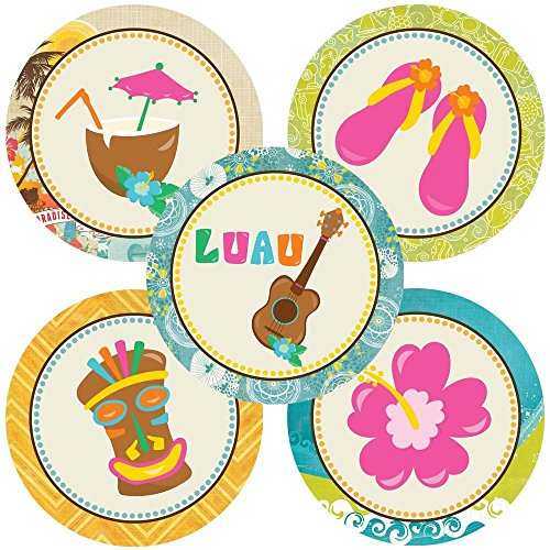 Adorebynat Party Decorations - EU Luau partito Sticker - Estate di compleanno del bambino Bridal Shower festa di nozze accessori per la casa - insieme 50