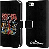 Offizielle The Rolling Stones Tour 78 Us Vintage Kunst Brieftasche Handyhülle aus Leder für Apple iPhone 5c
