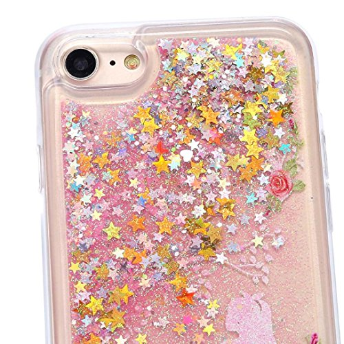 Cover per iPhone 7, Tpulling Custodia per iPhone 7 Case Cover Multicolore Quicksand Copertura ultra-sottile di cromo di lusso per il iPhone 7 4.7 pollici (A) F