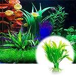 Legendog Artificial Aquatic Plants, 10 Pcs Aquarium Plants Plastic Fish Tank Decorations, Artificial Green Plant Grass… 11
