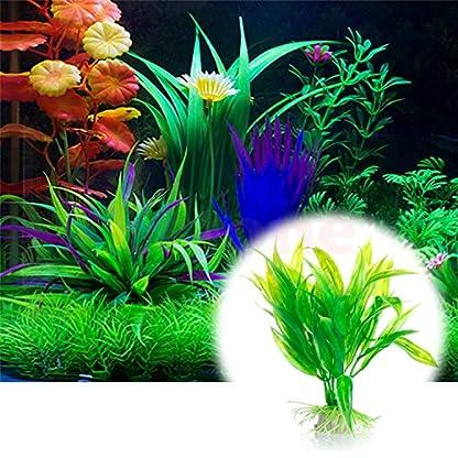 Legendog Artificial Aquatic Plants, 10 Pcs Aquarium Plants Plastic Fish Tank Decorations, Artificial Green Plant Grass… 3