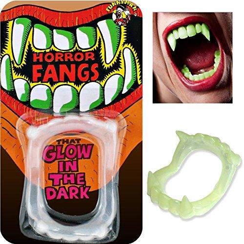 Zahnersatz Vampir Kostüm phosphoreszierenden - Falsche Zähne (Kostüme Zahnersatz)