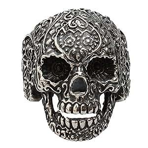 Contever® 316L Acciaio Inossidabile Punk del Cranio del Motociclista Anello Dimensione 12#