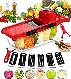 Pei Gemüseschneider Manuell 6 In 1 Zerkleinerer Kitchen Gemüsehobel Küchenhobel Kartoffelschneider Für Gemüseschäler Gemüse Und Obst