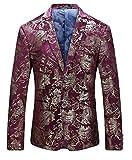 MOGU Herren Slim Fit Rotgold Blazer Jacke DE 50 (Asian 3XL)