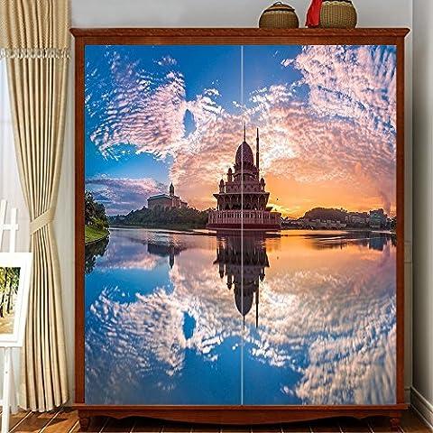 Yazi personalizzato: sfondo moderno gli Adesivi, immagine invertita, Carta da parati