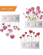 Akki World™ Switch Board Sticker, Switch Stickers, Wall Stickers, Light Switch Sticker Set of 3