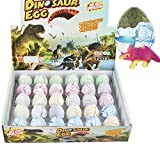 Yeelan Dinosaur Eggs Toy Éclosion Growing Dino dragon pour les enfants Grand Pack Taille de 30 pcs, Crack blanc