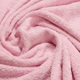 Stoff Baumwolle Frottee rosa Frotté zweiseitig