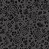 murando - Vlies Tapete - Deko Panel Fototapete - Wandtapete - Wand Deko - 10 m Tapetenrolle - Mustertapete - Wandtapete - modern design - Dekoration - dunkle Rosen Blumen f-A-0040-j-b