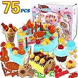 Kind Kleinkind Geburtstagstorte Kinder Rollenspiele Kaufläden Zubehör Küchenspielzeug Kreatives Spielzeug Geschenk zum Geburtstag Weihnachten Ostern,Blau