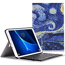 MoKo Samsung Galaxy Tab A 10.1 Keyboard Funda - Wireless Bluetooth Teclado Funda QWERTY para Samsung Galaxy Tab A 10.1 Pulgadas Tableta 2016 de Lazamieto, Noche Estrellada