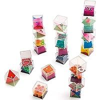 Partituki Pack de 24 Casse-têtes Cubes à Billes pour Enfants et Adultes. Parfait comme Cadeaux de Fête ou Remplissage de…